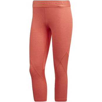 Textiel Dames Leggings adidas Performance Alphaskin Sport Heather 3/4 Legging Oranje / Meerkleurig