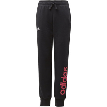 Textiel Meisjes Trainingsbroeken adidas Performance Essentials Linear Broek Zwart