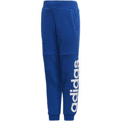 Textiel Jongens Trainingsbroeken adidas Performance Linear Joggingbroek Blauw / Wit