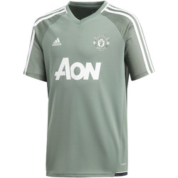 Textiel Kinderen T-shirts korte mouwen adidas Performance Manchester United Authentiek Trainingsshirt Wit