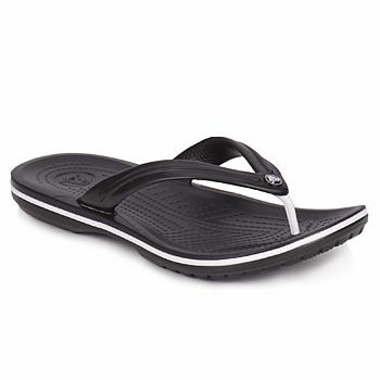 Schoenen Teenslippers Crocs CROCBAND FLIP Zwart