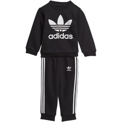 Textiel Jongens Trainingspakken adidas Originals Trefoil Set Zwart / Wit