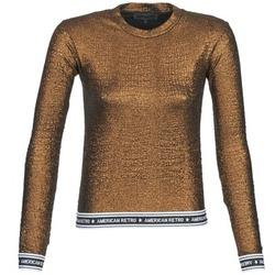 Textiel Dames T-shirts met lange mouwen American Retro ALLAN Goud