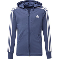 Textiel Meisjes Trainings jassen adidas Performance Essentials 3-Stripes Hoodie Wit / Wit