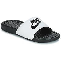 Schoenen Heren slippers Nike BENASSI JUST DO IT Wit / Zwart