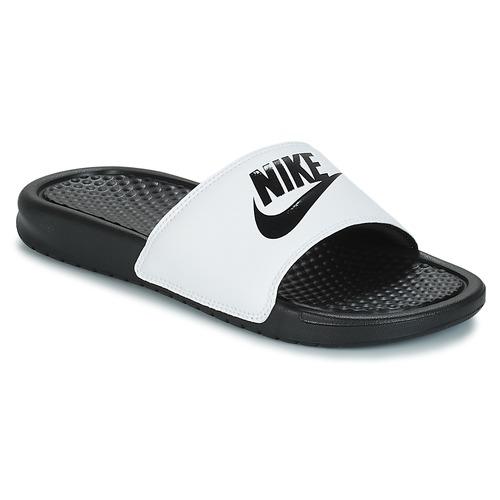 0de35a8f5fc Nike BENASSI JUST DO IT Wit / Zwart - Schoenen slippers Heren € 15,99