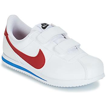Schoenen Jongens Lage sneakers Nike CORTEZ BASIC PRE-SCHOOL Wit / Blauw / Rood