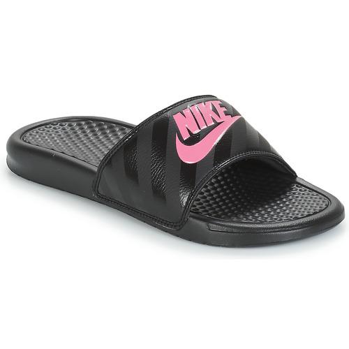pretty nice 6d2a0 27919 Schoenen Dames slippers Nike BENASSI JUST DO IT W Zwart  Roze