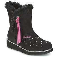 Schoenen Meisjes Snowboots Skechers SPARKLES Zwart / Roze
