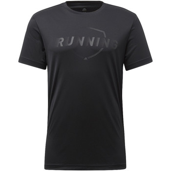 Textiel Heren T-shirts korte mouwen adidas Performance Running Graphic T-shirt Zwart