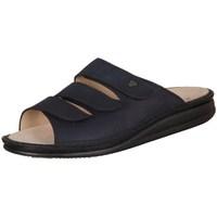 Schoenen Dames Leren slippers Finn Comfort Korfu Marine Buggy