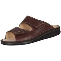 Schoenen Heren Leren slippers Finn Comfort Riad Braun Karbo