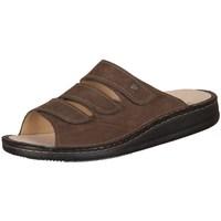 Schoenen Heren Leren slippers Finn Comfort Korfu Tabak Carat