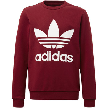 Textiel Jongens Fleece adidas Originals Trefoil Sweatshirt Rood / Wit