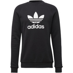 Textiel Heren Sweaters / Sweatshirts adidas Originals Trefoil Warm-Up Sweatshirt Zwart