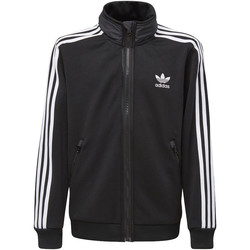 Textiel Jongens Trainings jassen adidas Originals BB Hooded Trainingsjack Zwart / Grijs / Wit