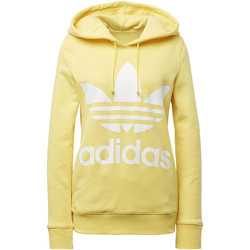 Textiel Dames Trainings jassen adidas Originals Trefoil Hoodie yellow