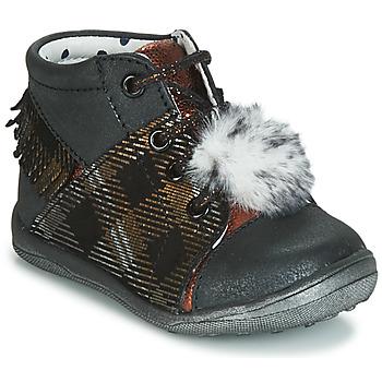 Schoenen Meisjes Hoge sneakers Catimini PEPITA Zwart / Koper