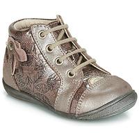 Schoenen Meisjes Hoge sneakers GBB NICOLE Vtv / Hout / Rose+impr / Dpf / Kezia