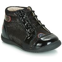 Schoenen Meisjes Hoge sneakers GBB NICOLE Zwart / Pailletten