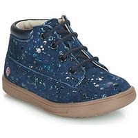 Schoenen Meisjes Hoge sneakers GBB NINON Vte /  marine-pois / Dpf / Messi