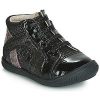 Schoenen Meisjes Hoge sneakers GBB ROSETTA Zwart / Zilver