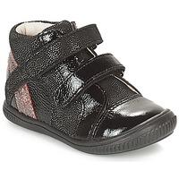 Schoenen Meisjes Hoge sneakers GBB ROXANE Zwart / Zilver