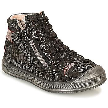 Schoenen Meisjes Hoge sneakers GBB DESTINY Zwart / Pailletten