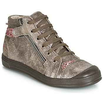 Schoenen Meisjes Hoge sneakers GBB DESTINY Crt / Taupe / Roze / Dpf / Edit