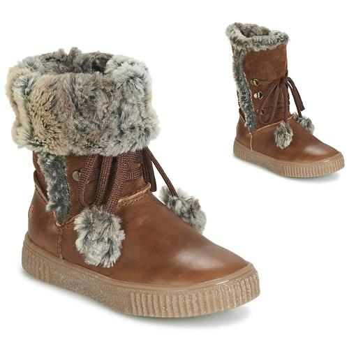 Schoenen Meisjes Hoge laarzen GBB NOUSTIK Bruin