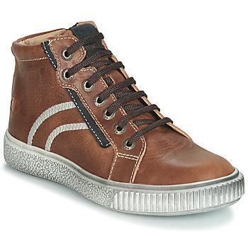 Schoenen Jongens Hoge sneakers GBB NESTOR Bruin