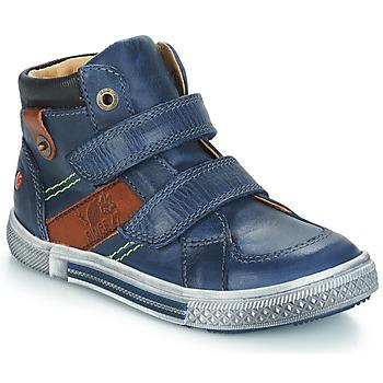 Schoenen Jongens Laarzen GBB RENDALL Blauw / Bruin