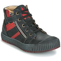 Schoenen Jongens Hoge sneakers GBB RAMBOUTAN Vte / Zwart-baksteen / Dpf / Linux