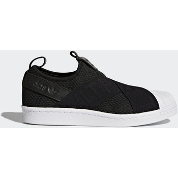 Schoenen Dames Lage sneakers adidas Originals Superstar Slip-on Schoenen Zwart / Zwart / Wit