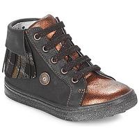 Schoenen Meisjes Hoge sneakers Catimini LOULOU Zwart / Koper