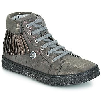 Schoenen Meisjes Hoge sneakers Catimini LOULOU Grijs / Roze