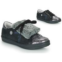 Schoenen Meisjes Lage sneakers Catimini MARGOTTE Zwart / Zilver