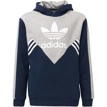 Textiel Jongens Trainings jassen adidas Originals Fleece Hoodie Donkerblauw / Grijs / Wit