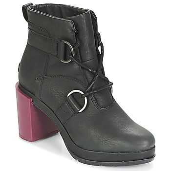 Schoenen Dames Enkellaarzen Sorel MARGO LACE Zwart