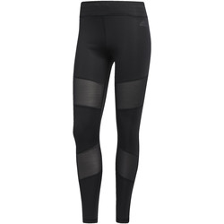 Textiel Dames Leggings adidas Performance Mesh Mix Lange Legging Zwart