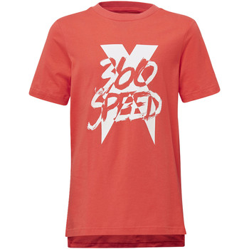 Textiel Jongens T-shirts korte mouwen adidas Performance Football X T-shirt Wit