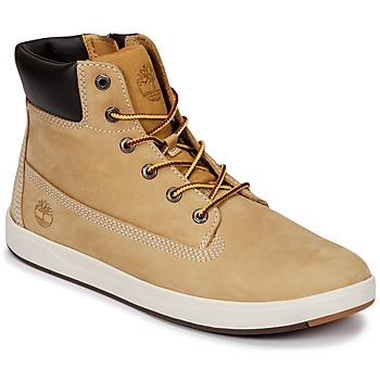 Schoenen Kinderen Laarzen Timberland Davis Square 6 Inch Boot Tarwe / Naturebuck