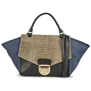 Tassen Dames Handtassen kort hengsel Su-Shi MILA CROCO Blauw / Zwart