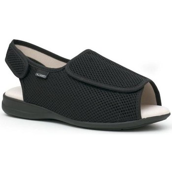 Schoenen Leren slippers Calzamedi Schoenen  comfortabel NEGRO
