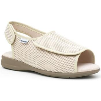 Schoenen Dames Sloffen Calzamedi Schoenen  comfortabel BEIGE