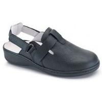 Schoenen Dames Leren slippers Calzamedi DOBLE  W NEGRO