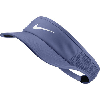 Accessoires Dames Pet Nike AeroBill Featherlight Tennis Visor Blauw