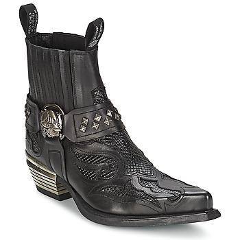 Schoenen Dames Laarzen New Rock PRETO Zwart