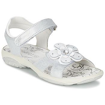 Schoenen Meisjes Sandalen / Open schoenen Primigi LINA Wit / Zilver