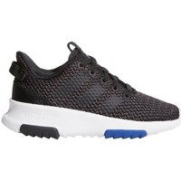Schoenen Kinderen Lage sneakers adidas Originals CF Racer TR K Wit-Zwart